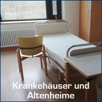 Reinigung von Krankenh&aumlusern und Altenheimen